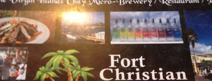 Fort Christian Brew Pub is one of Tempat yang Disukai Ico.