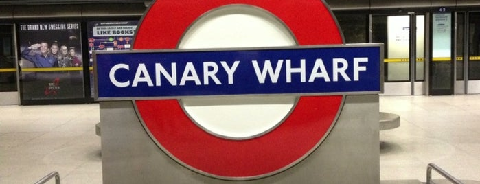 Canary Wharf London Underground Station is one of London.