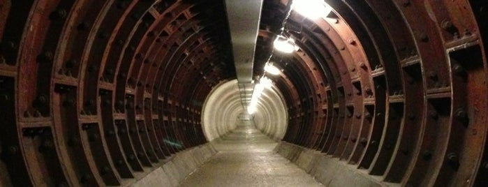 Greenwich Foot Tunnel is one of Greenwich and Docklands; London.