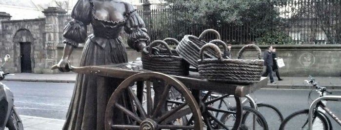 Molly Malone Statue is one of Dublin. Ireland.