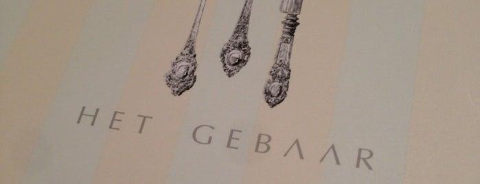 Het Gebaar is one of Gault Millau.