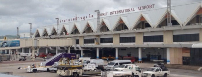 Aeroporto Internacional de Phuket (HKT) is one of Locais curtidos por Евгения.