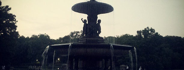 Bethesda Fountain is one of NY.