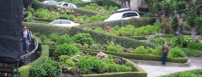 Lombard Street is one of *San Francisco*.
