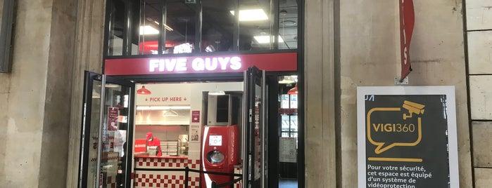 Five Guys is one of Orte, die Jean-François gefallen.