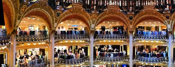 Galeries Lafayette Haussmann is one of MIGAS IN PARIS.