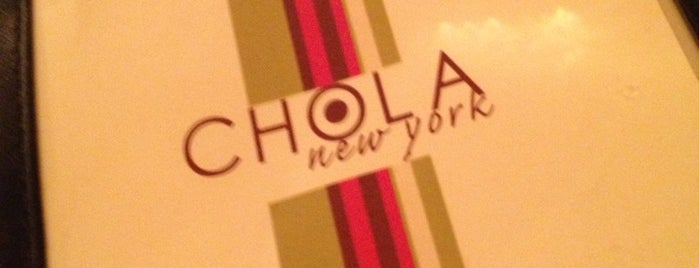 Chola Eclectic Indian Cuisine is one of USA NYC Restos.