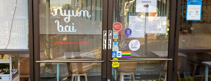 Nyum Bai is one of Oakland to do.