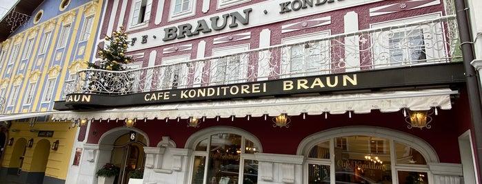 Café Konditorei Braun is one of Locais curtidos por Lindsey.