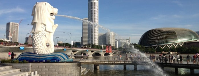 The Merlion is one of Сентоза.