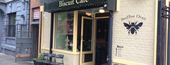 BeeHive Oven Biscuit Café is one of NYC - American, Pizza, Bar Food.