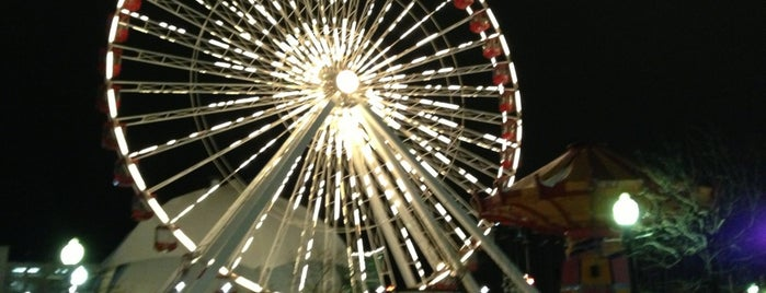 Ferris Wheel at Navy Pier is one of Orte, die Michael gefallen.