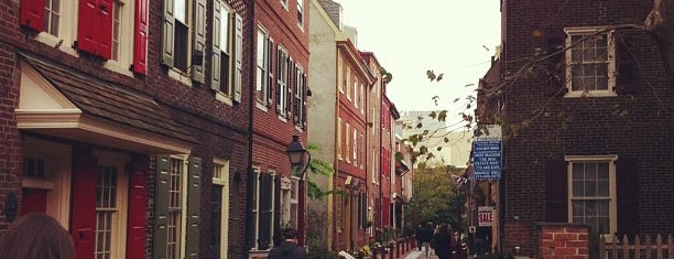 Elfreth's Alley is one of Philly.