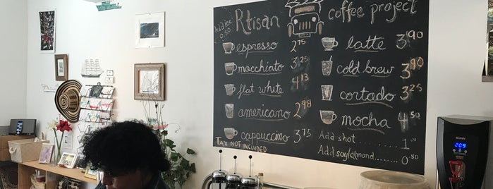 R.tisan Coffee Project is one of NYC.