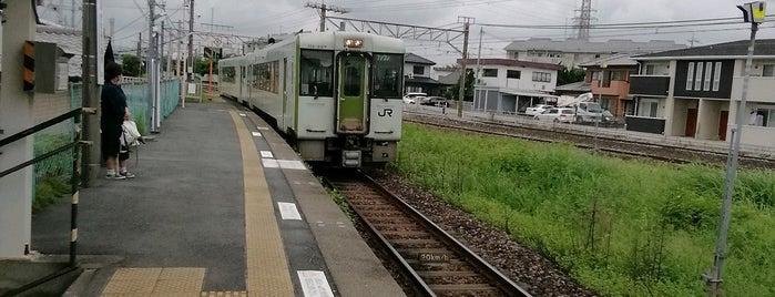 Kita-Fujioka Station is one of JR 키타칸토지방역 (JR 北関東地方の駅).
