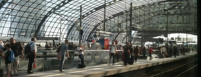Berlin Hauptbahnhof is one of Railway stations visited.