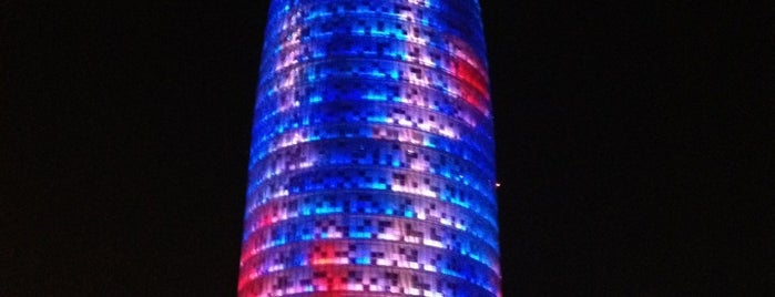 Torre Agbar is one of MONUMENTOS/LUGARES.