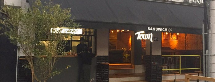 Town Sandwich Co. is one of Locais salvos de Fabiana.