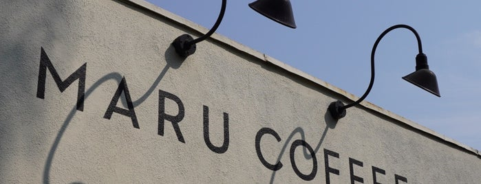 Maru Coffee is one of LA.