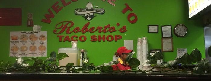 Roberto's Taco Shop is one of สถานที่ที่ Ryan ถูกใจ.