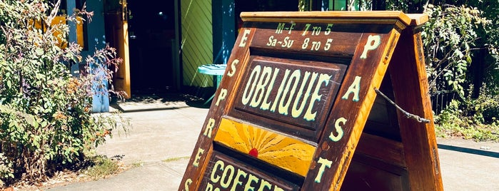 Oblique Coffee Roasters is one of Coffee Coffee Coffee: it's all that matters.
