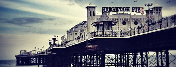 Brighton Palace Pier is one of Brighton UK.