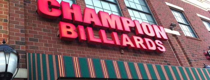Champions Billiards Sports Cafe is one of Best Bars in Maryland to watch NFL SUNDAY TICKET™.
