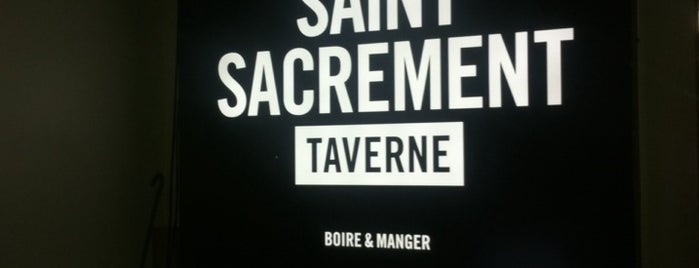 Taverne Saint-Sacrement is one of Mes plans A.