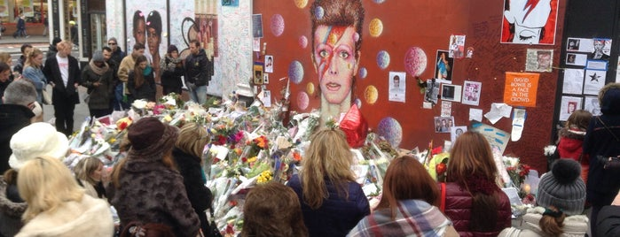 David Bowie mural is one of London.