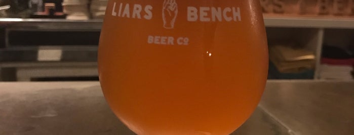 The Liars Bench Beer Company is one of Portsmouth.