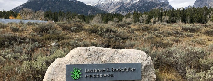 Laurance S. Rockefeller Preserve is one of Jackson Hole.