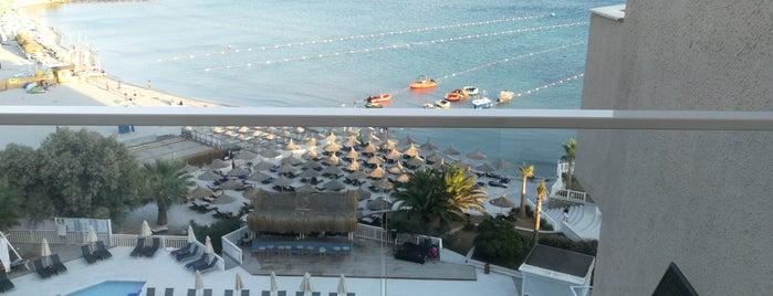 Design Plus Seya Beach Hotel is one of Tempat yang Disukai Veysel.