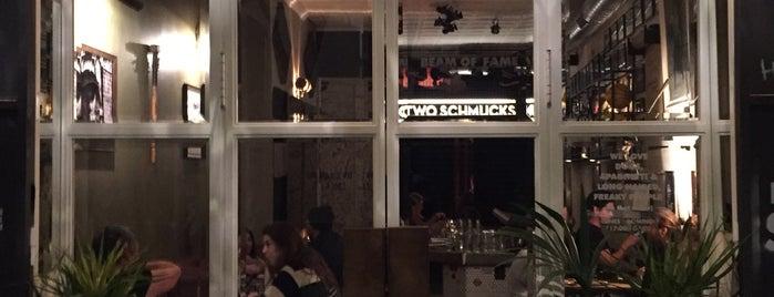 Two schmucks is one of Barcelona, Spain.