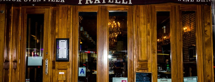 Fratelli Brick Oven Pizza is one of Gluten Free NYC.