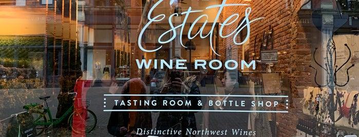 The Estates Wine Room is one of Tempat yang Disukai Kristen.