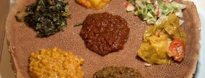 Lalibela Ethiopian Restaurant is one of Tempat yang Disimpan Dat.