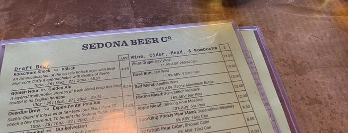 Sedona Beer Company is one of Arizona.