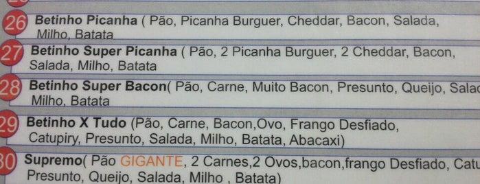 Betinho do Sanduiche is one of Locais curtidos por dofono filho do caçador.