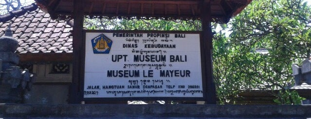 Museum Le Mayeur is one of Museum In Indonesia.