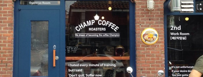 Champ Coffee is one of Seoul coffee 2019.