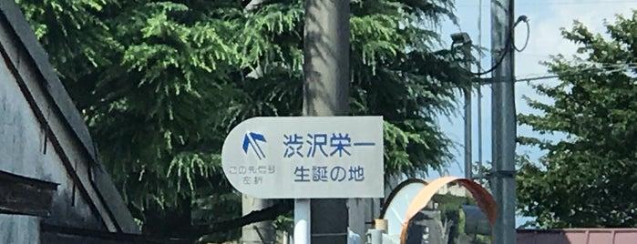 渋沢栄一生誕の地 is one of 渋沢栄一.