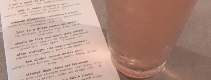 The Shop: Pizza + Cocktails is one of CALIFORNIA.