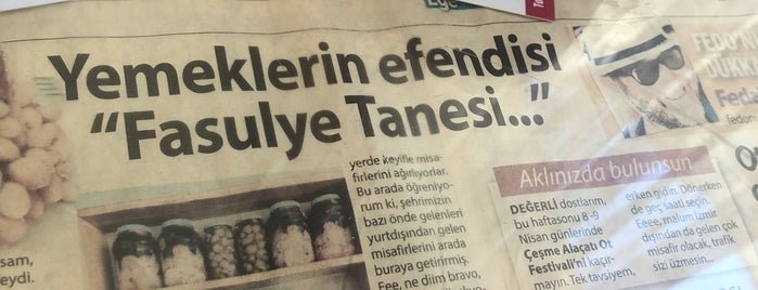 Fasulye Tanesi is one of İZMİR EATING AND DRINKING GUIDE.