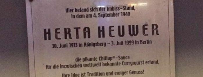Herta Heuwer Gedenktafel is one of 1 | 111 Orte in Berlin die man gesehen haben muss.