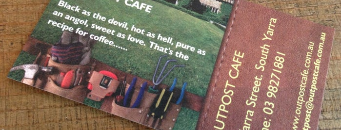 Outpost Cafe is one of Melbourne Coffee Book.