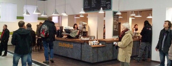 Espresso bar v Alza.cz is one of Kde si pochutnáte na kávě doubleshot?.