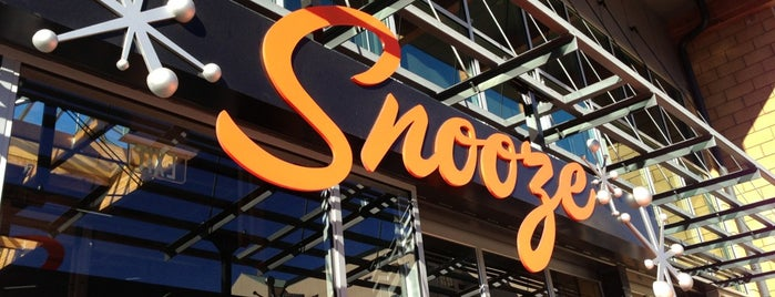 Snooze is one of Breakfast, Cafes and Coffee Shops.