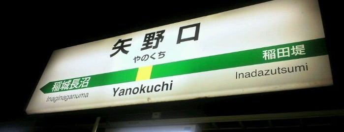 Yanokuchi Station is one of JR 미나미간토지방역 (JR 南関東地方の駅).