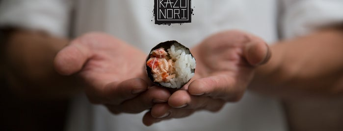 KazuNori: The Original Hand Roll Bar is one of Ramen & Sushi.