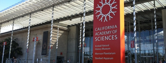 California Academy of Sciences is one of Guide to San Fran.